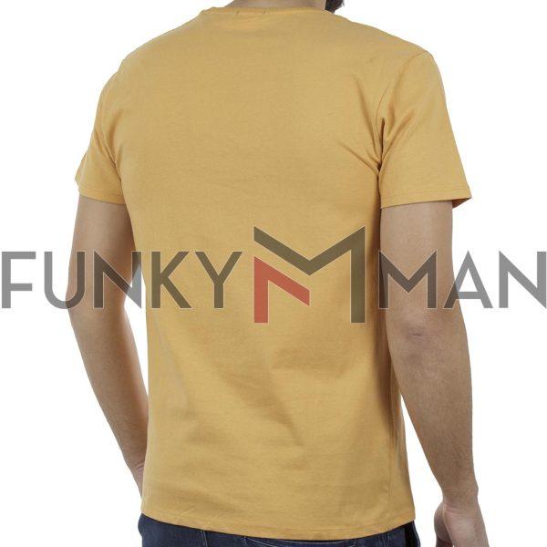 Κοντομάνικο Μπλούζακι Crew Neck T-Shirt DOUBLE TS-92 σκούρο Κίτρινο