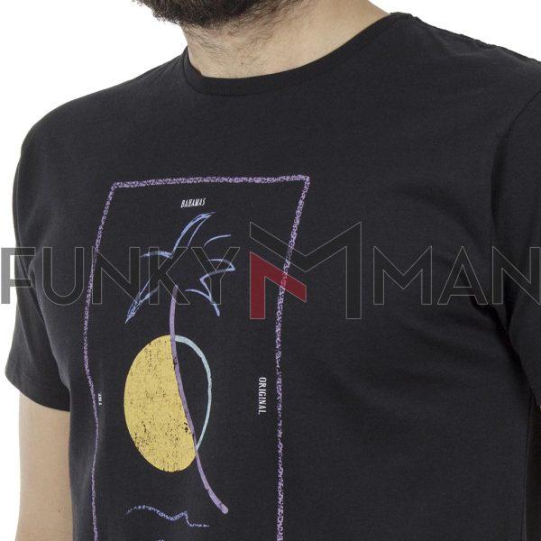 Κοντομάνικο Μπλούζακι Crew Neck T-Shirt DOUBLE TS-93 Μαύρο