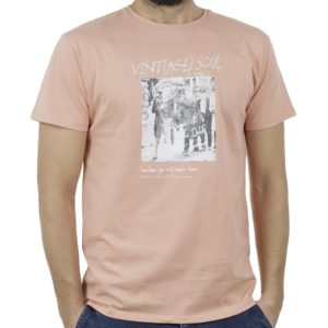 Κοντομάνικο Μπλούζακι Crew Neck T-Shirt DOUBLE TS-93 Ροζ