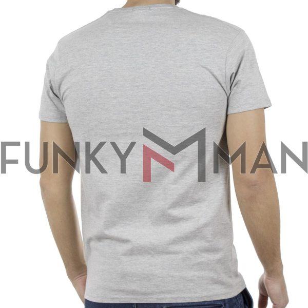 Κοντομάνικο Μπλούζακι Crew Neck T-Shirt DOUBLE TS-93 ανοιχτό Γκρι