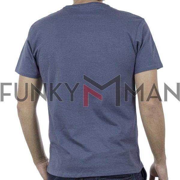 Κοντομάνικο Μπλούζακι Crew Neck T-Shirt DOUBLE TS-93 Indigo