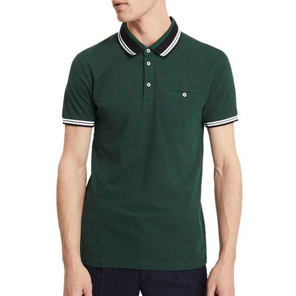 Κοντομάνικο Polo Pique Celio NEAGERAY σκούρο Πράσινο