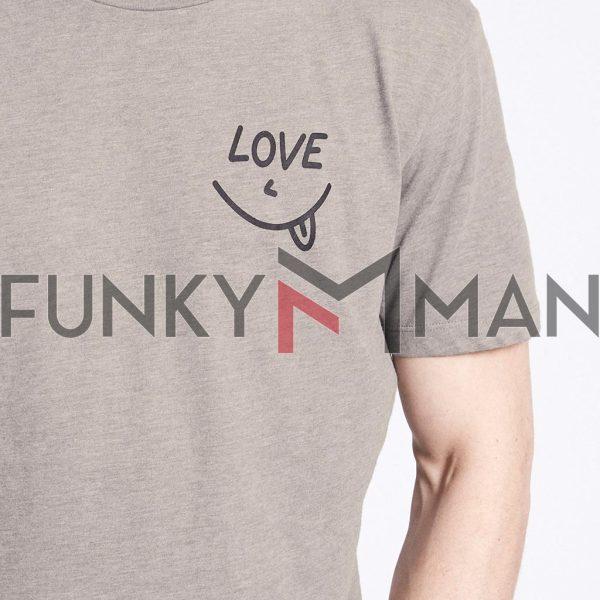 Κοντομάνικο Μπλουζάκι T-Shirt Celio NEINTER Γκρι