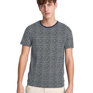 Κοντομάνικο Μπλουζάκι T-Shirt All Over Print Celio NETIETEE Navy