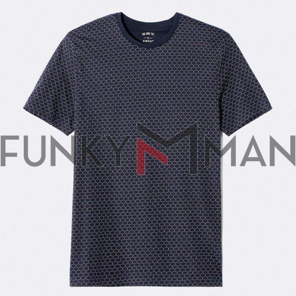 Κοντομάνικο Μπλουζάκι T-Shirt All Over Print Celio NETIETEE1 Navy