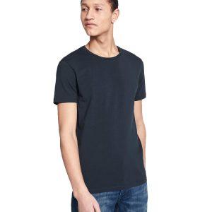 Μονόχρωμο Κοντομάνικο Μπλουζάκι T-Shirt Celio NEUNIR Navy