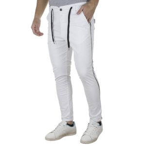Chinos Παντελόνι Super Slim COVER ARTHUR T0076 Λευκό