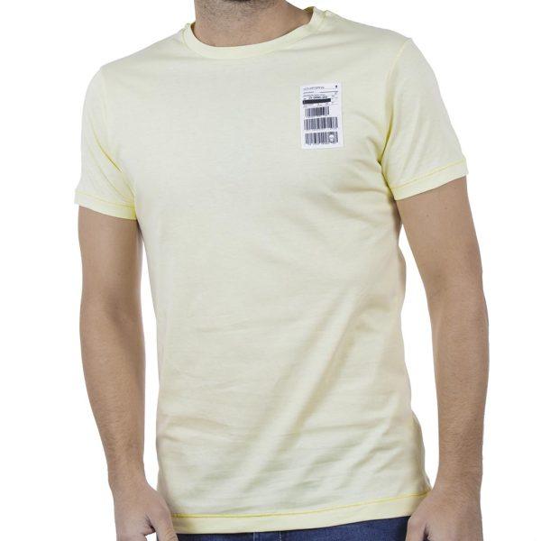 Κοντομάνικη Μπλούζα T-Shirt COVER BLAW Y235 ανοιχτό Κίτρινο