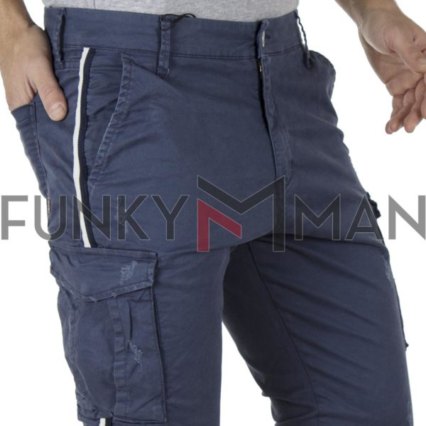 Cargo Παντελόνι με Λάστιχα COVER CANYON T0183 Navy