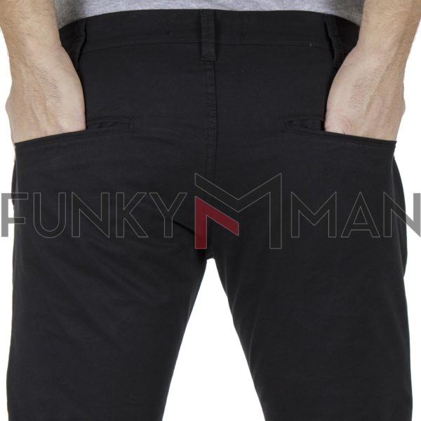 Chinos Παντελόνι COVER CHIBO T0085 Μαύρο