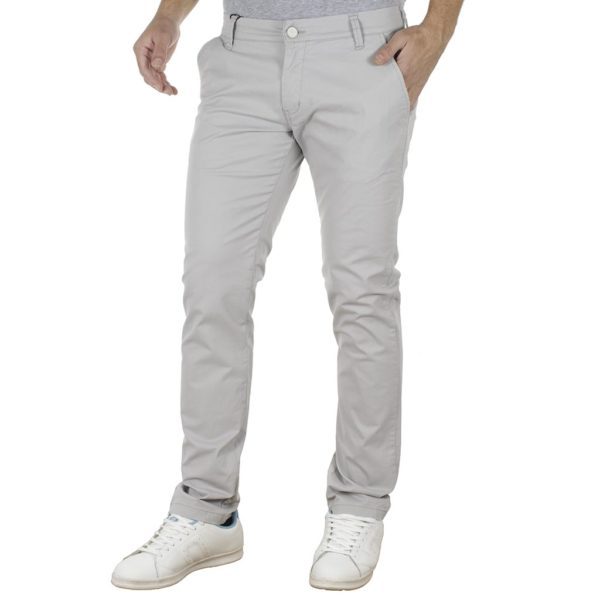 Chinos Παντελόνι COVER CHIBO T0085 ανοιχτό Γκρι
