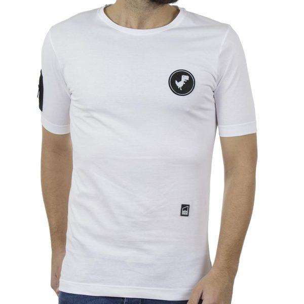 Κοντομάνικη Μπλούζα T-Shirt COVER FRANK Y226 Λευκό