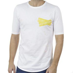 Κοντομάνικη Μπλούζα T-Shirt COVER INDIAN Y221 Λευκό