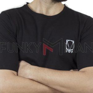 Κοντομάνικη Μπλούζα T-Shirt COVER INDIAN Y222 Μαύρο