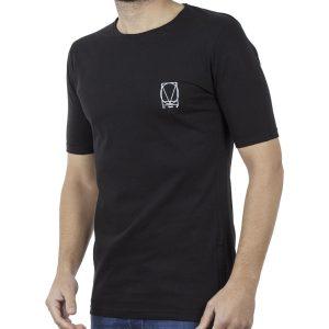 Κοντομάνικη Μπλούζα T-Shirt COVER LUPO Y204 SS19 Μαύρο