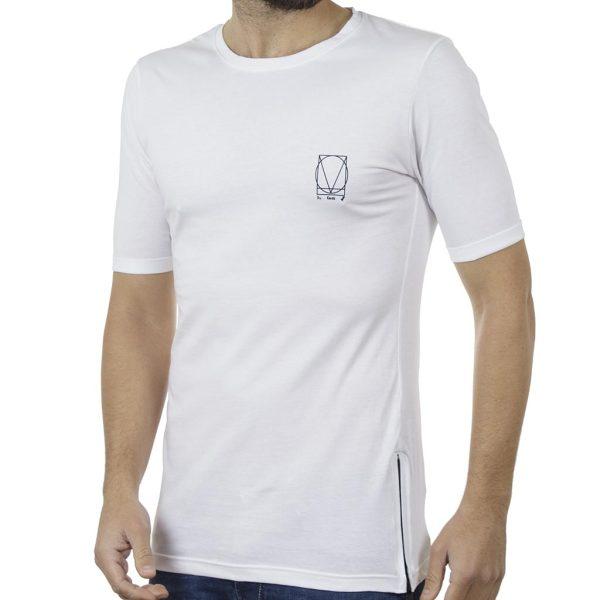 Κοντομάνικη Μπλούζα T-Shirt COVER LUPO Y204 SS19 Λευκό