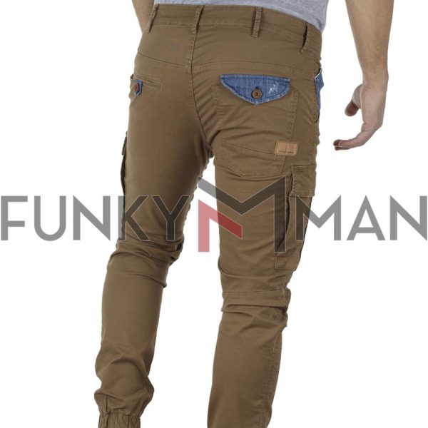 Cargo Παντελόνι με Λάστιχα COVER NEW ARMY T0190 Camel