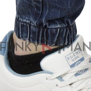Τζιν Chinos Παντελόνι με Λάστιχα Loose COVER NOOR N3540 Μπλε
