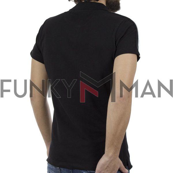 Κοντομάνικη Μπλούζα με Γιακά Polo COVER POLO Z239 Μαύρο