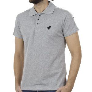 Κοντομάνικη Μπλούζα με Γιακά Polo COVER POLO Z239 Γκρι