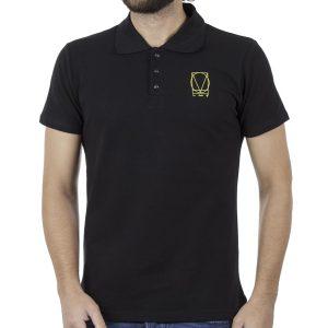 Κοντομάνικη Μπλούζα με Γιακά Polo COVER POLO Z240 Μαύρο
