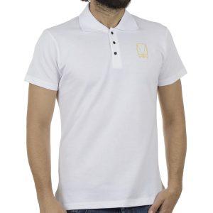 Κοντομάνικη Μπλούζα με Γιακά Polo COVER POLO Z240 Λευκό