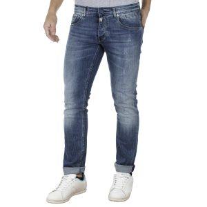 Τζιν Παντελόνι Super Slim COVER TEDDY E2679 Μπλε