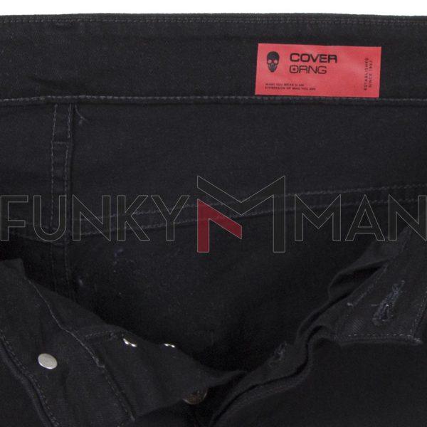 Βερμούδα Τζιν COVER Jeans V-BRUNO GV060 Μαύρο