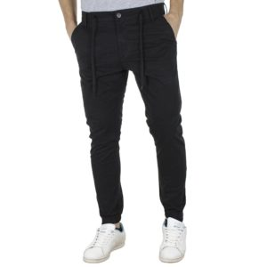 Chinos Slim Παντελόνι με Λάστιχα COVER X-CANYON T0191 Μαύρο