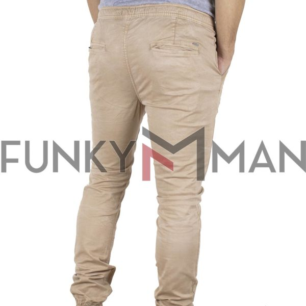 Chinos Παντελόνι με Λάστιχα Slim Fit Ribstop DOUBLE CCP-11 Camel
