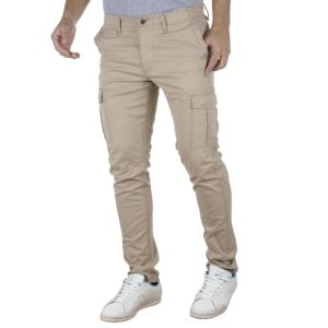 Παντελόνι Cargo Slim Fit DOUBLE CCP-9 Beige
