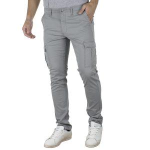 Παντελόνι Cargo Slim Fit DOUBLE CCP-9 Γκρι
