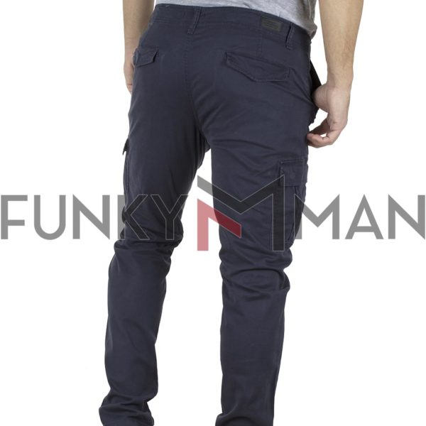 Παντελόνι Cargo Slim Fit DOUBLE CCP-9 Indigo