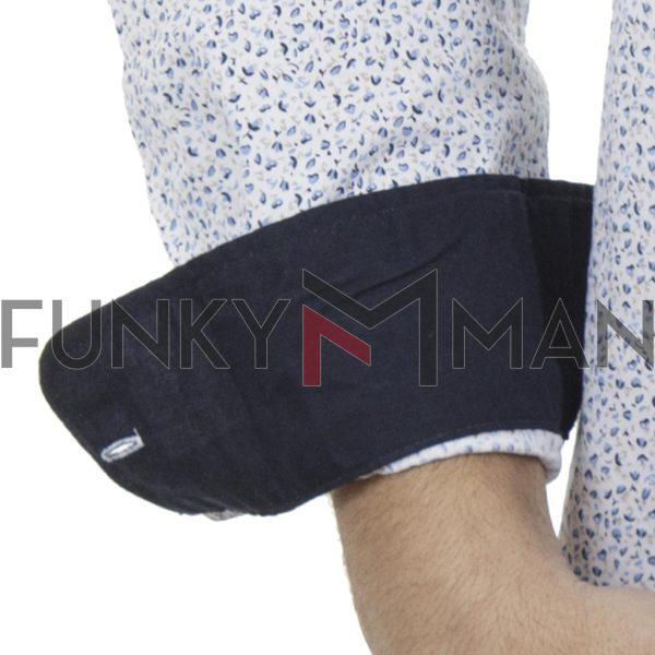 Μακρυμάνικο Πουκάμισο Comfort Fit DOUBLE DOUBLE GS-481 Εμπριμέ