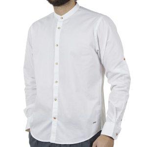 Μακρυμάνικο Πουκάμισο Comfort Fit DOUBLE DOUBLE GS-483 Λευκό
