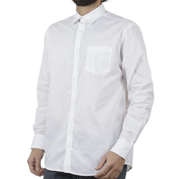 Μακρυμάνικο Πουκάμισο Comfort Fit DOUBLE DOUBLE GS-8 Λευκό