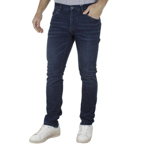 Τζιν Παντελόνι Slim Fit DOUBLE MJP-27 Μπλε