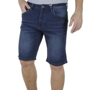 Τζιν Βερμούδα Denim Shorts DOUBLE MJS-17 Μπλε