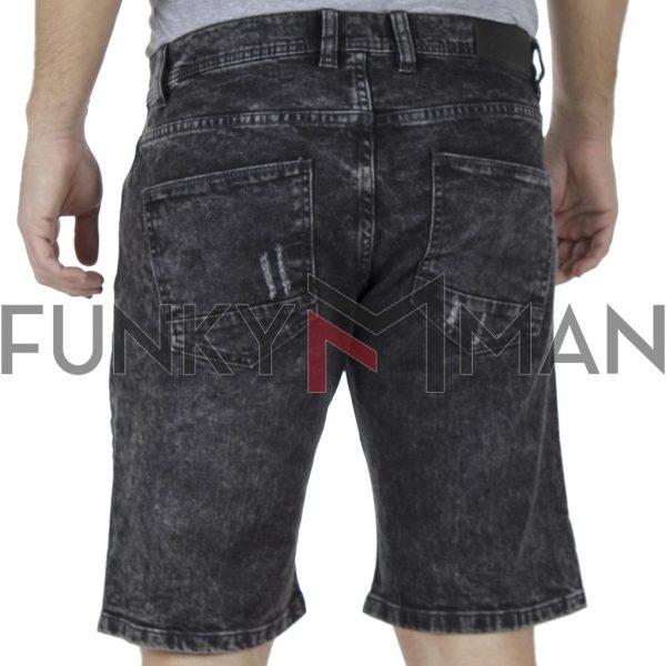 Τζιν Βερμούδα Denim Shorts DOUBLE MJS-19 Μαύρο
