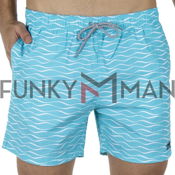 Μαγιό Βερμούδα All Over Print DOUBLE MTS-112 Sky Blue