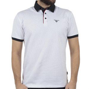 Κοντομάνικο Pique Μπλουζάκι Polo DOUBLE PS-220S Λευκό