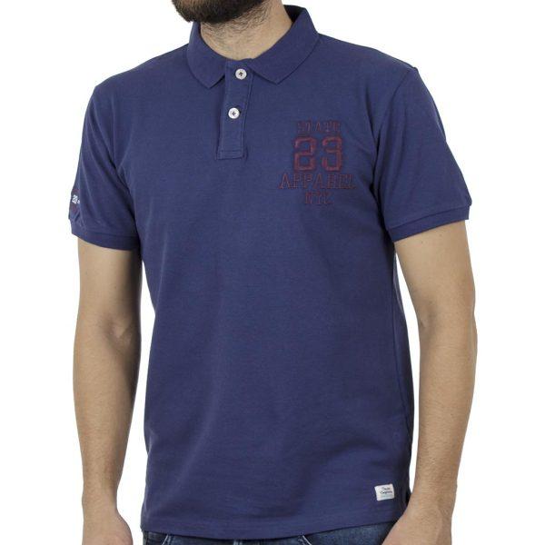 Κοντομάνικο Pique Μπλουζάκι Polo DOUBLE PS-221 Indigo