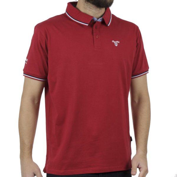 Κοντομάνικο Μπλουζάκι Polo Jersey DOUBLE PS-225S Κόκκινο