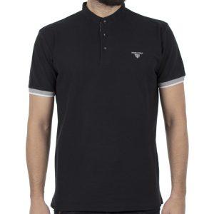 Κοντομάνικο Pique Μπλουζάκι Polo DOUBLE PS-226S Μαύρο