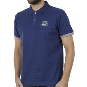 Κοντομάνικο Pique Μπλουζάκι Polo DOUBLE PS-227S Μπλε