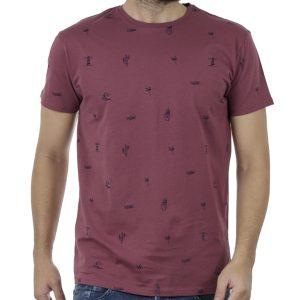 Κοντομάνικο Μπλούζακι All Over Print T-Shirt DOUBLE TS-100 Μωβ