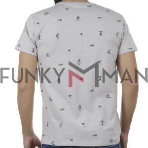 Κοντομάνικο Μπλούζακι All Over Print T-Shirt DOUBLE TS-100 Ice