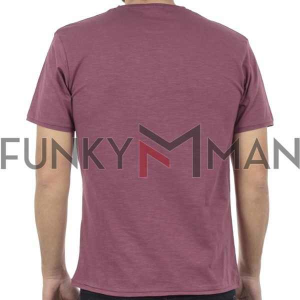Κοντομάνικο Μπλούζακι Flama T-Shirt DOUBLE TS-94 σκούρο Μωβ