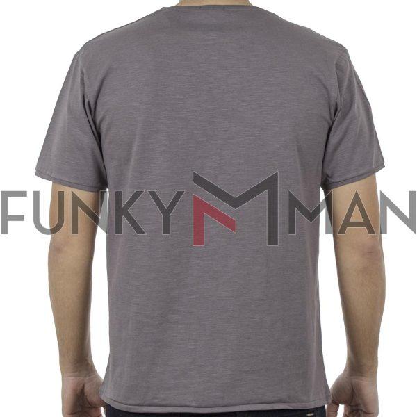 Κοντομάνικο Μπλούζακι Flama T-Shirt DOUBLE TS-94 Γκρι