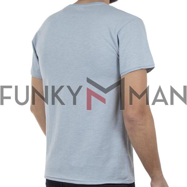 Κοντομάνικο Μπλούζακι Flama T-Shirt DOUBLE TS-94 Sky Blue